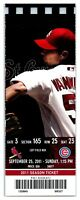 2011 St. Louis Cardinals Chicago Cubs 9/25 Ticket Yadier Molina HR *ST1I