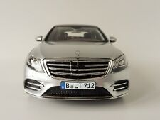 MERCEDES BENZ CLASE S AMG 2018 Plata 1/18 Norev 183479 CLASE S Mercedes 222