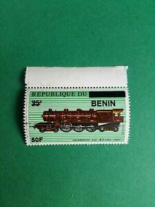 Bénin surchargé overprint 50f sur 35f neuf MNH train locomotive vapeur 232