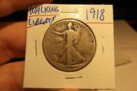 1918 WALKING LIBERTY HALF DOLLAR   ...........  FREE SHIPPING