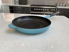 Le creuset Caribbean Blue insulated handle frying pan 26cm aga cooking cast iron