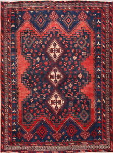 MEMORIAL DEAL Vintage Geometric Traditional Area Rug Handmade Wool 5x7 ft Carpet