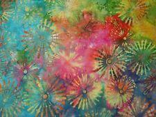 Hoffman Bali Batik Pinwheels P2008-130 Multi Cotton Batik Fabric BTY