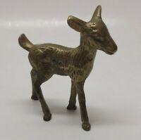 Vintage Brass Cast Metal Small Baby Deer