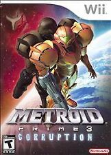 *COMPLETE w/ MANUAL* Metroid Prime 3: Corruption (Nintendo Wii, 2007)