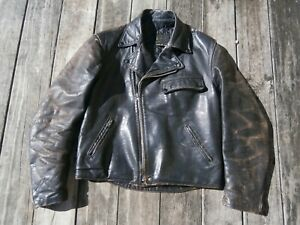 "Vintage ""Brooks""(same as ""Buco"" PJ27) Police Leather Jacket"
