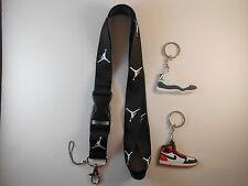 Jordan lanyard with two jordan keychain. New. Breakaway. NFL MLB NBA NCAA