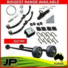 DIY TANDEM TRAILER KIT ELECTRIC BRAKES 3000KG RATED. ROCKER ROLLER SPRINGS