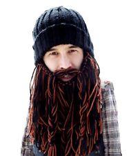 7c3cc4f6148 Barbarian Roadie - Beard Head - Long Plaited Black Brown Knitted Beard +  Beanie