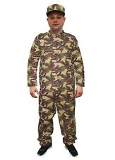 New Mens Adult Army Soldier Costume Reporting Boy Uniform Fancy Dress Outfit Set