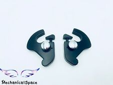 BLK Detachable Rotary Sissy Bar Luggage Rack Docking Latch Clips Kit For Harley