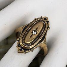 Vintage Avon Victorian Style Oblong Ring Size 7.5 Faux Diamond
