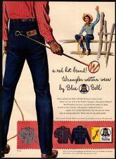 1954 Blue Bell Clothes - Wrangler Jeans - Cowboy - Cowgirl - Denim Vintage Ad