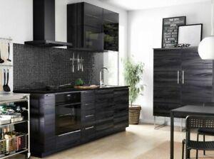 "IKEA TINGSRYD Cabinet Door 15 x 32.5"" Black Wood effect 902.668.30 NEW"