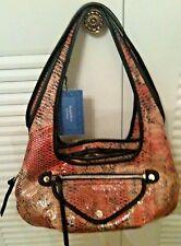 Simply Vera Wang Sidekick Satchel Faux Leather Pink Blend Shoulder Bag NWT