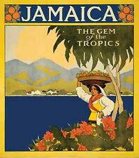 Jamaica   Vintage 1950's Style Travel Decal Sticker Label