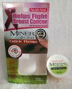Nutra Nail MINERAL NAIL CARE Cuticle Therapy Moisturize Conditions .5 oz/14g New