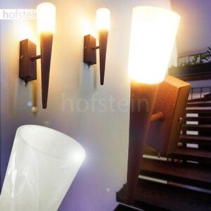 Flur Dielen Fackel Wand Lampe Schalter Retro Glas Wohn Schlaf Raum Leuchten Rost