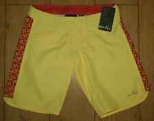BNWT Women's Oakley Glide Pour Surf Board Shorts uk4 New Yellow