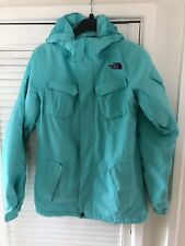 The North Face Ladies Hyvent Hooded Aqua Blue Jacket Size S 8 -10 UK