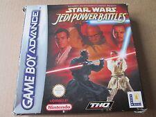 Star Wars episodio I Jedi batallas de alimentación (Nintendo Game Boy Advance) en caja compele
