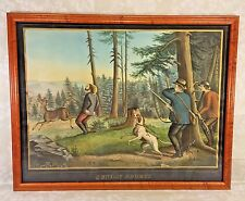 Antique Henry Schile Colored Chromolithograph Sunday Sports 1870 New York
