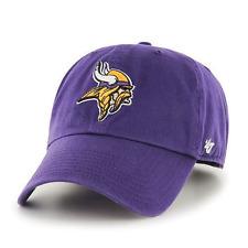 Minnesota Vikings Hat '47 Brand Clean Up Adjustable Cap NFL