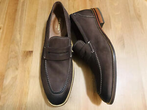 Cole Haan Grand 360 loafers nubuck leather brown shoes C31201 NWOB size 11