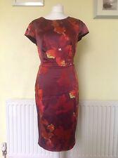 Beautiful Orange/Rusty Brown Satin Dress From Coast Uk 14