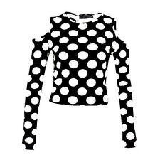 Polka Dot Long Sleeve Unbranded Machine Washable Tops & Blouses for Women