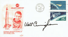 More details for walt cunningham signed autograph first day cover 1 fdc aftal apollo astronaut