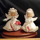 Vintage 1959 Holt Howard Spaghetti Trim Angel Salt Pepper Shaker Figurines Japan
