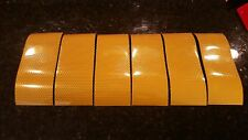 """3M Avery 6 Strips 3"""" x 8"""" YELLOW REFLECTIVE PRISMATIC CONSPICUITY TAPE"""