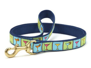 Up Country - Dog Puppy Design Leash - Made In USA -  Martinis - 4, 6 Foot