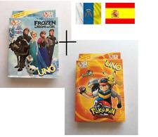 PACK DE JUEGO DE CARTAS UNO FROZEN Y UNO POKEMON COLOSSEUM CARTAS DE MESA
