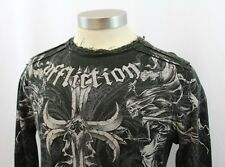 AFFLICTION Long Sleeve Thermal Shirt Factory Distressed Mens Size Medium M