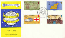 GUERNSEY 7 JUNE 1974 UNIVERSAL POSTAL UNION FIRST DAY COVER SHS