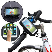 Motorcycle MTB Bike Bicycle Handlebar Holder Mount Case Bag For Cell Phone GPS