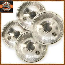 """5 3/4"""" Inch Inner Outer H1 H4 Halogen Headlamp Headlight Conversion Set + Bulbs"""