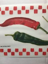 Tatouage Dry Rub Transfer Chili Pepper Kitchen Border Backsplash DIY Projects