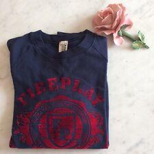 Felpa ESISTO by COMBIPEL stampa rossa a rilievo velluto sweatshirt maglia pull