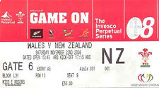 WALES v NEW ZEALAND 22 Nov 2008 RUGBY TICKET at CARDIFF