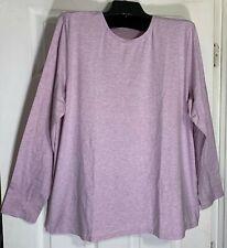 Pure J Jill women Plus size 3XL stretch cotton 100% Pima cotton Lilac New