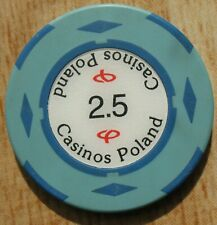 PL - Casinos Poland - 2,5 - old casino gambling chip