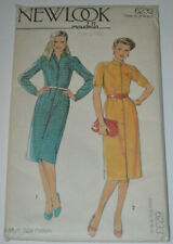 sewing pattern dress  with mandarin collar size 10 to 18