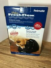 Petmate Deluxe Fresh Flow Fountain Water Bowl Dish Dog Cat 108 OZ