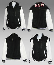New NIKE Sportswear NSW Ladies Womens Leather Hooded DESTROYER Varsity Jacket S