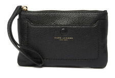 Authentic Marc Jacobs Empire City Leather Wristlet M0015040 in Black