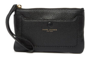 Marc Jacobs Empire City Leather Wristlet [Black] NWT $140