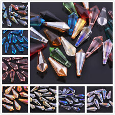 20pcs 8X20mm Chandelier Cone Faceted Crystal Glass Loose Beads Pendants Drop